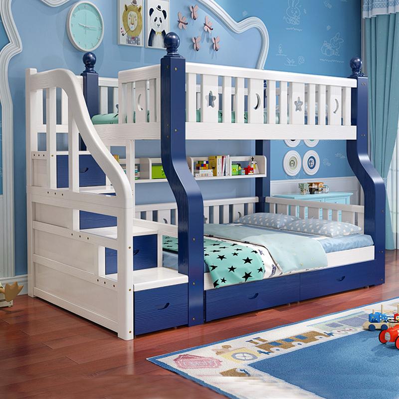 上下床双层床实木子母床多功能组合两层床高低床上下铺木床儿童床