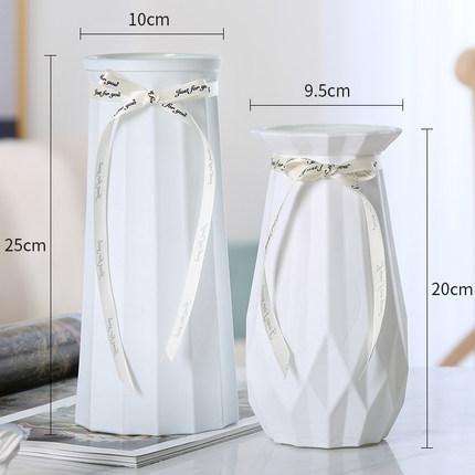 【两件套】北欧玻璃花瓶摆件创意客厅简约插花鲜花瓶水养植物花瓶