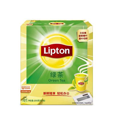 Lipton立顿绿茶黄山四川绿茶包茶叶袋泡清新鲜香醇办公养身S100包