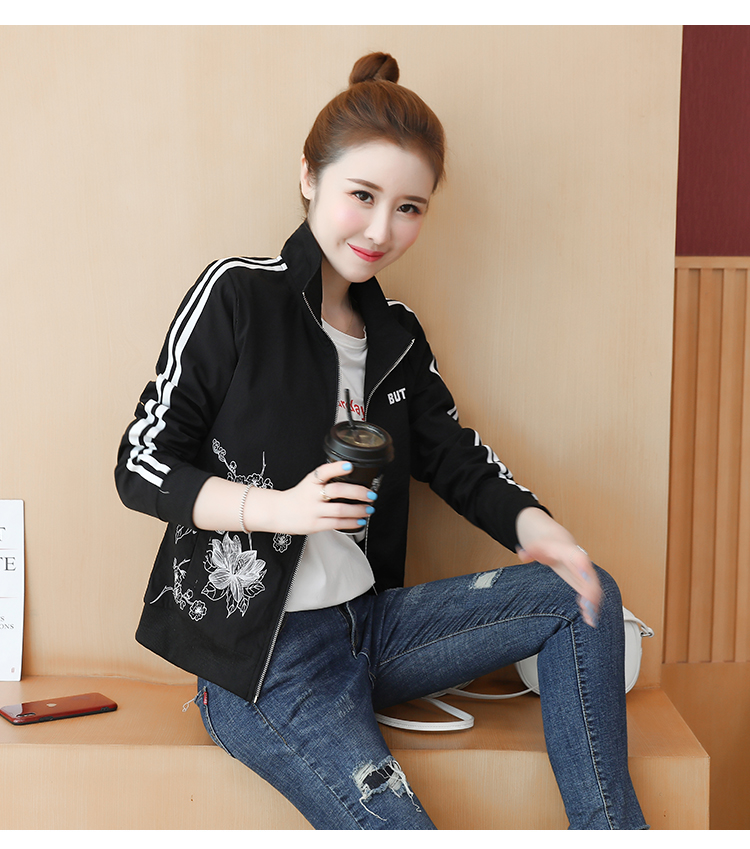 Spring and autumn short women's windshield 2020 new small style loose casual embroidered jacket jacket jacket 60 Online shopping Bangladesh