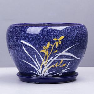 中国风大号圆形陶瓷花盆