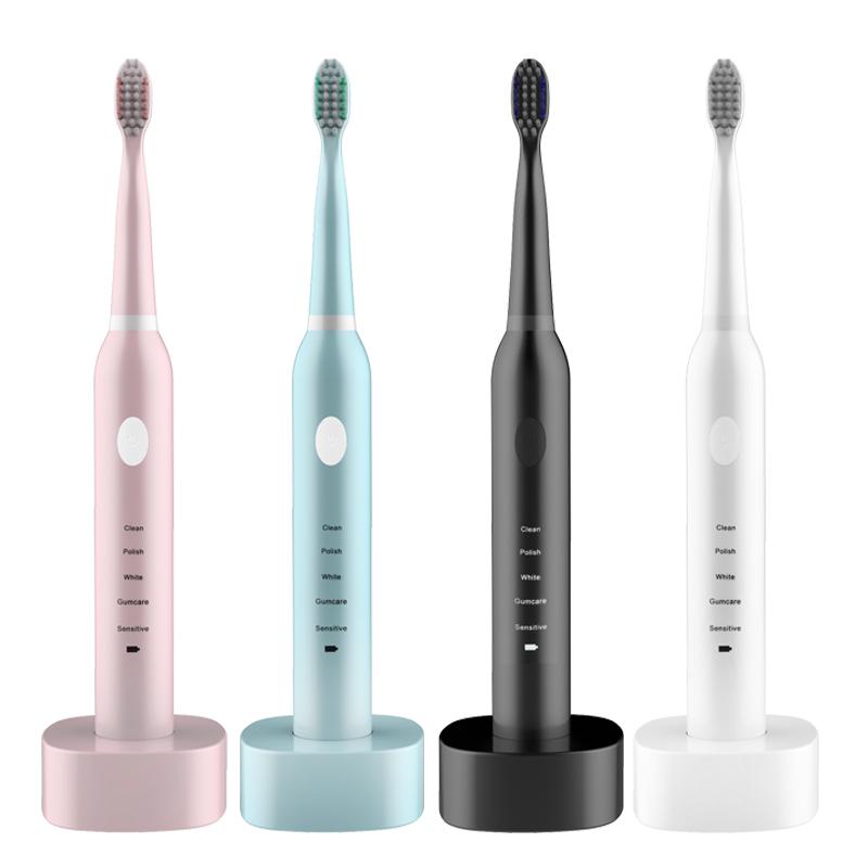 格兰森电动牙刷家用成人男女充电防水声波儿童美白软毛全自动牙刷