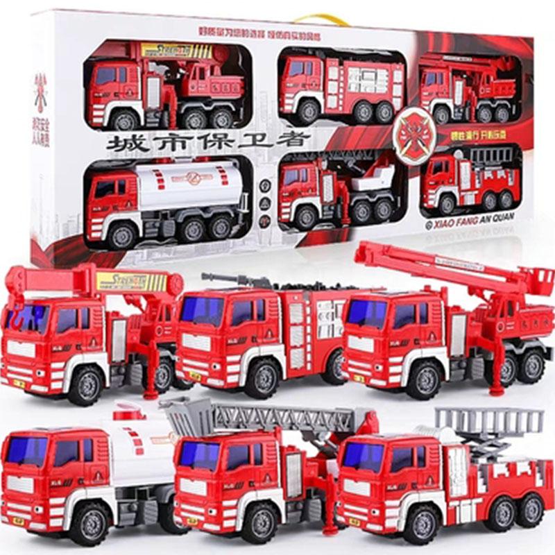 大号儿童消防车玩具套装吊车宝宝垃圾车工程车小男孩汽车玩具模型