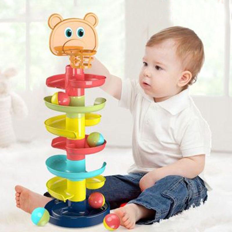 宝宝益智趣味轨道滑球塔转转乐儿童早教玩具