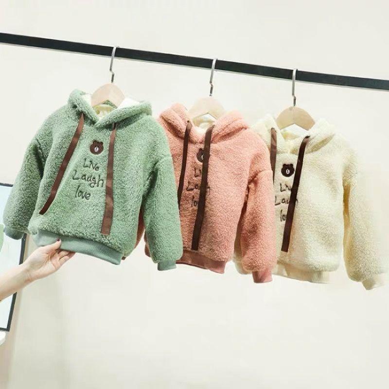 新款儿童保暖毛衣加厚连帽卫衣
