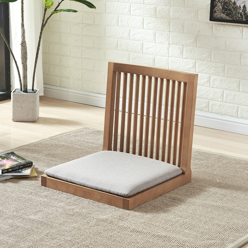 Japanese-style solid wood tatami chairs 牀 on the seats ...
