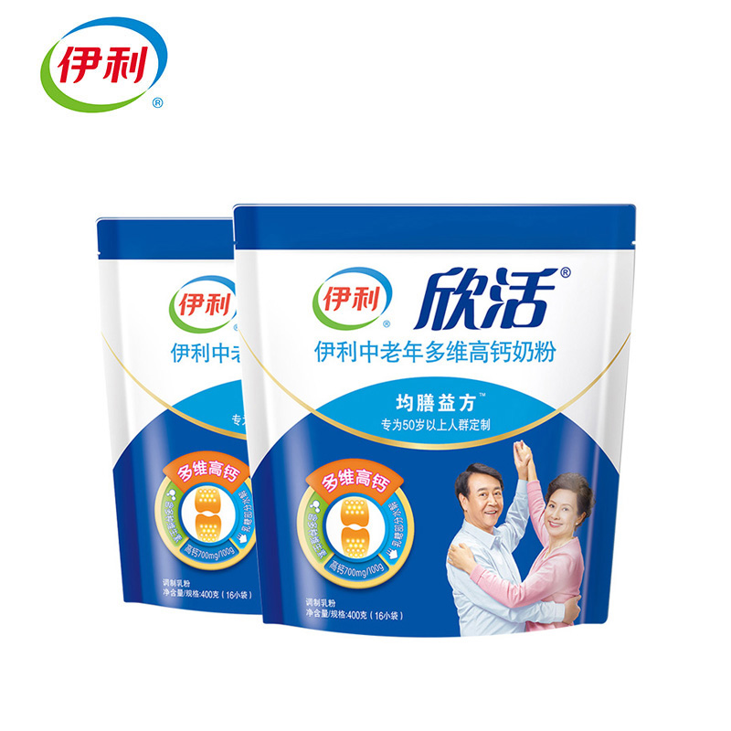 伊利中老年多维高钙奶粉400g*2