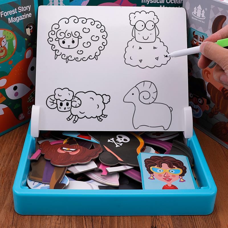 新款磁性拼图儿童益智力开发玩具多功能-秒客网
