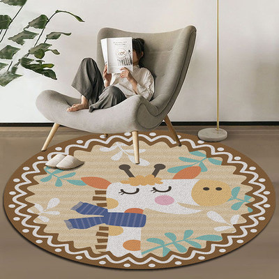 Round carpet living room tea carpet bedroom bedside computer swivel chair dressing table hanging basket chair tent cartoon mat