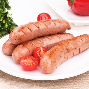 500g台湾地道肠五香原味黑椒早餐热狗纯肉脆皮山石烧烤香肠商用