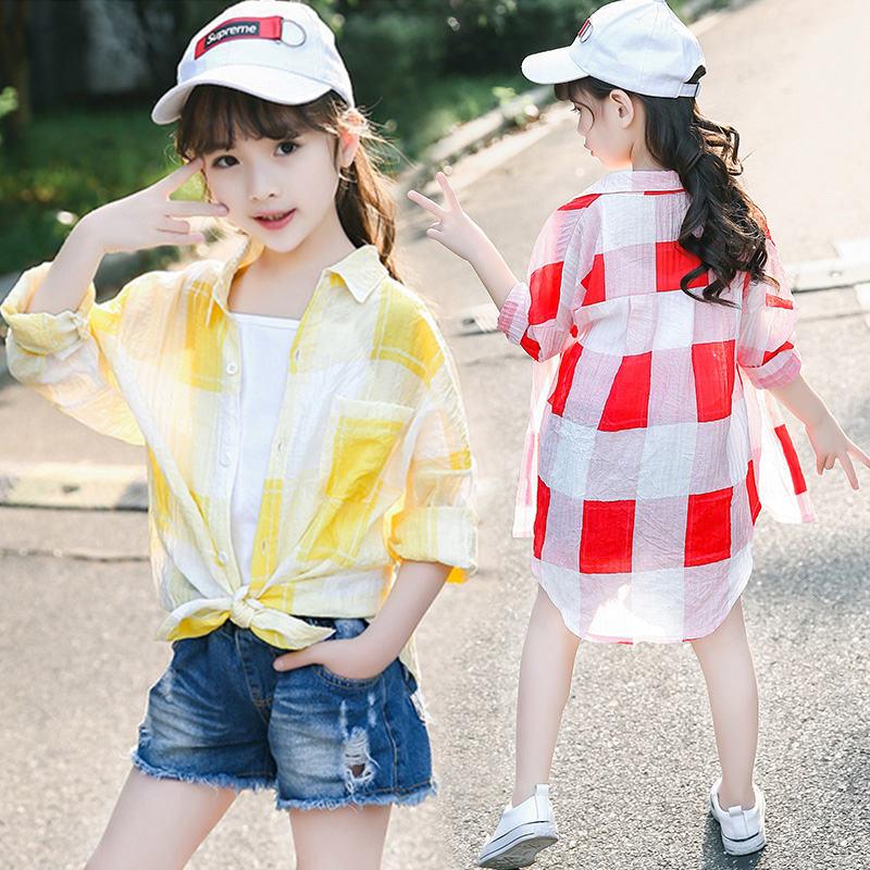 女童冰丝防晒衣2021新款透气轻薄儿童皮肤衣大童夏季时尚■薄款外套