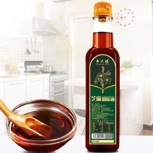 乡人缘芝麻调味油传统压榨芝麻调味火锅醇香油碟蘸料家用500ml/瓶
