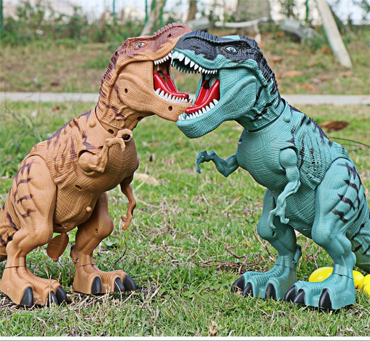 中國代購|中國批發-ibuy99|恐龙玩具儿童电动会走下蛋霸王龙喷火龙喷雾大号仿真动物模型男孩