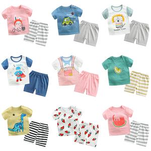 夏季宝宝短袖套装小孩婴儿衣服小童儿童夏装1男童短裤女童3岁