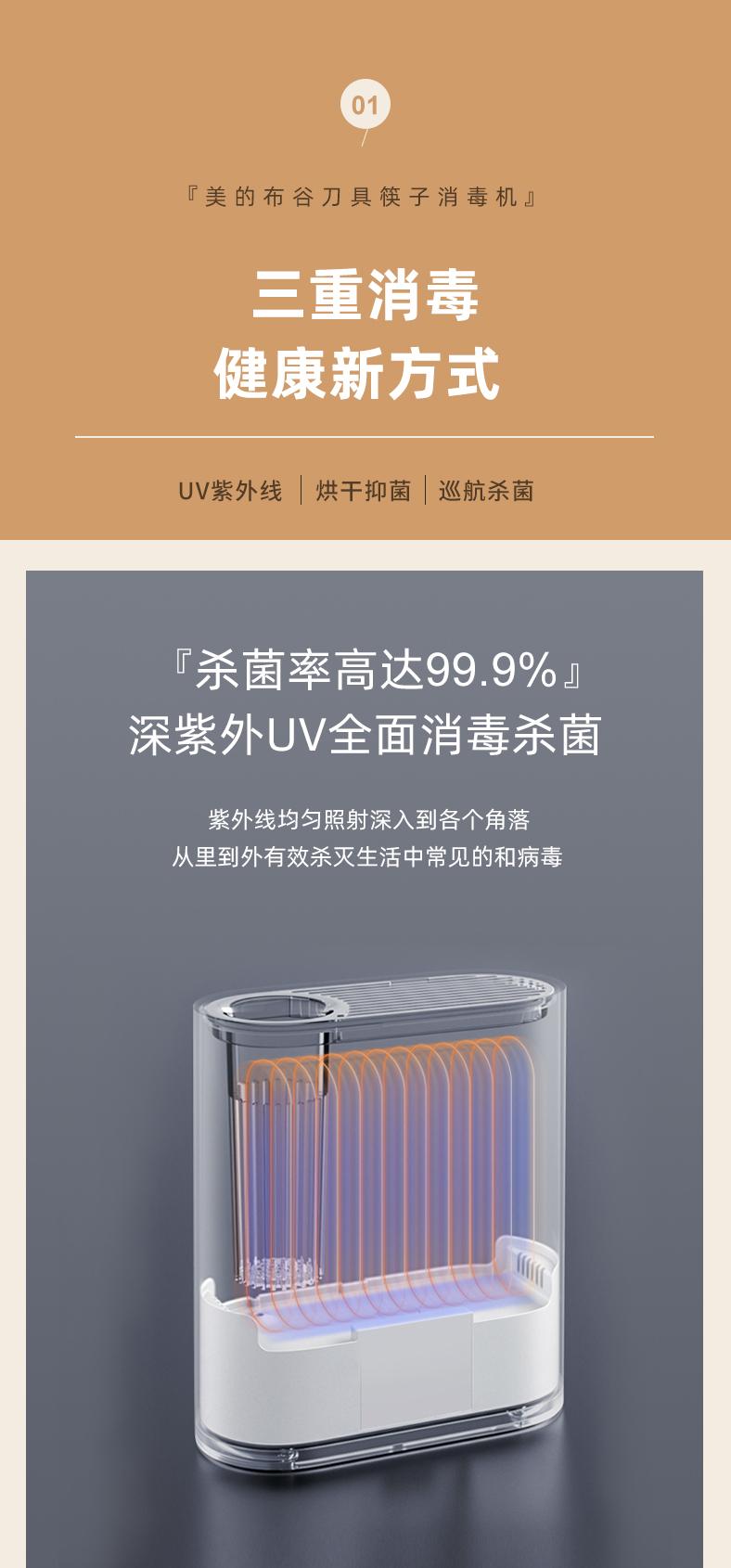 美的旗下  布谷  智能紫外线消毒烘干刀筷架 图2