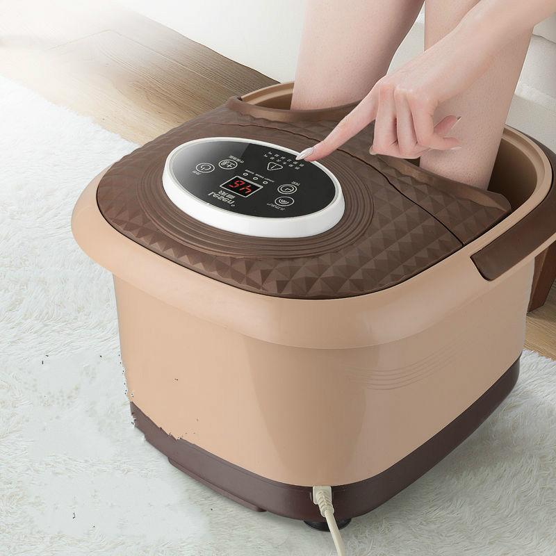 新款全自动加热足浴盆泡脚桶电动恒温家用洗脚盆按摩足浴器足疗机