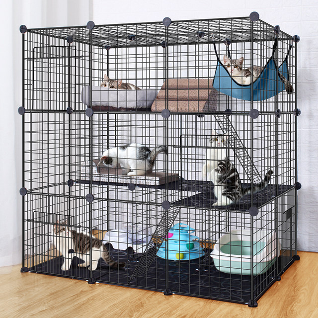 Cat Cage Household Cat Cage Villa Extra Large Free Space Cat House House Size With Cat Litter Box Indoor Cage