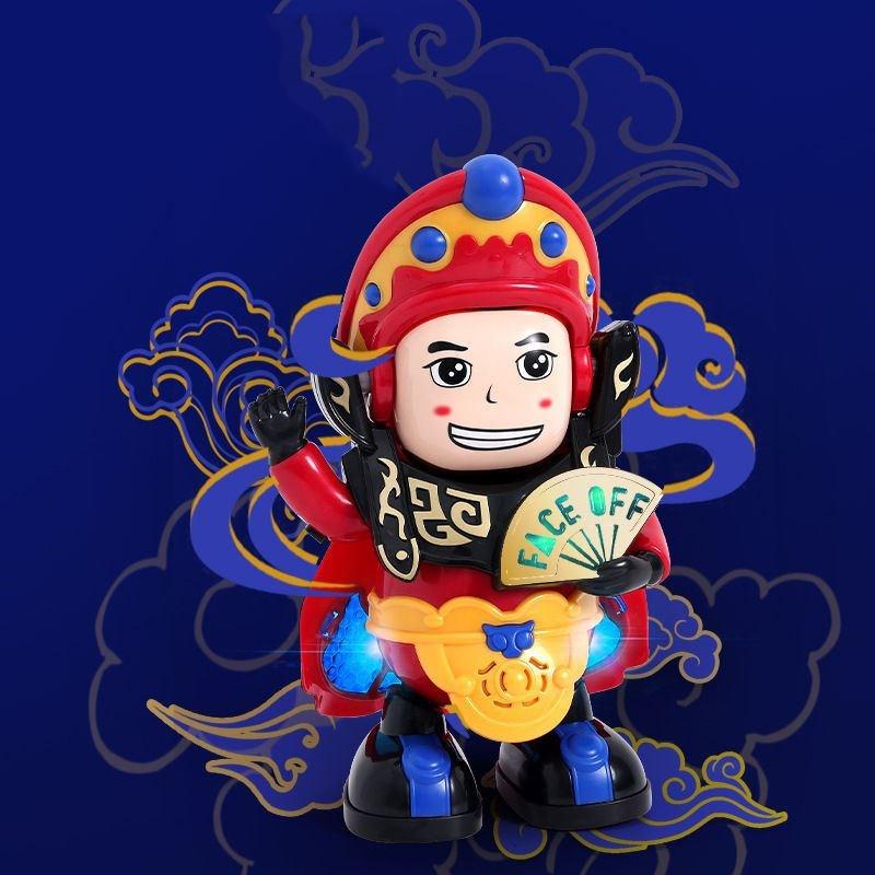 抖音同款网红电动川剧变脸玩具娃娃机器人自动儿童京剧脸谱小玩17