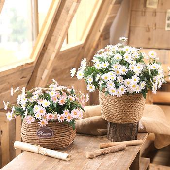 Дейзи ложный цветок моделирование букет качели установить гостиная декоративный свет экстравагантный рабочий стол украшение обеденный стол офис комната пластик сухие цветы, цена 398 руб