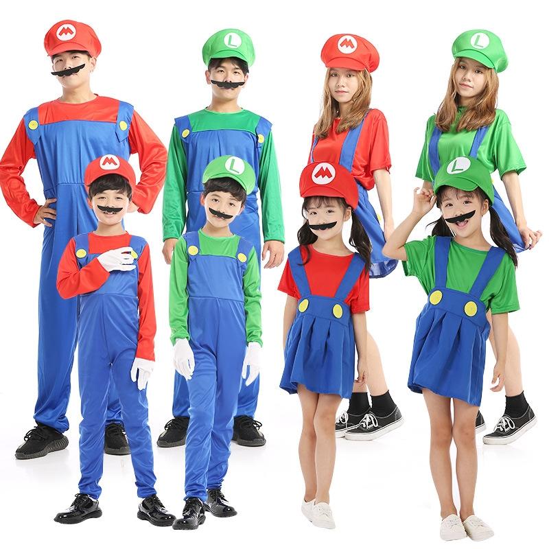 Хэллоуин ребенок одежда cosplay угол цвет играть играть производительность производительность супер - мэри марио одежда установите