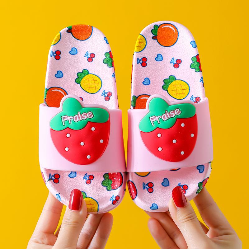 儿童拖鞋夏女室内外防滑卡通可爱软底小孩凉拖鞋公主浴室洗澡男童