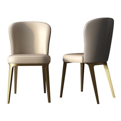 轻奢餐椅现代简约家用休闲凳子靠背小户型餐厅北欧风ins网红椅子