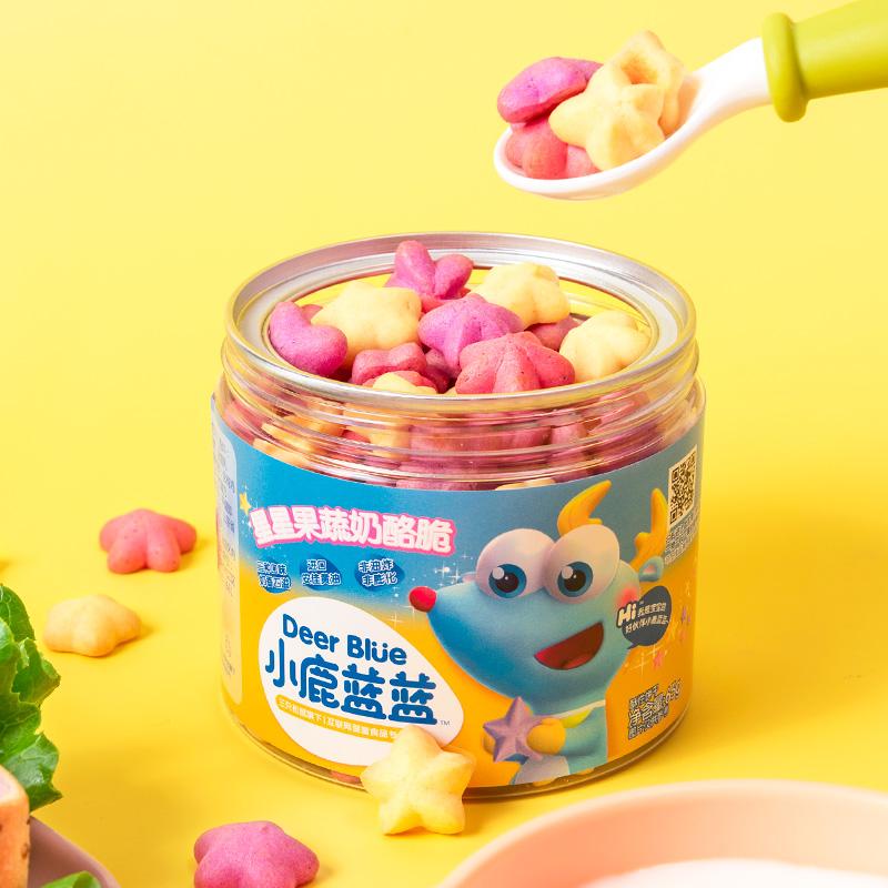 【小鹿蓝蓝】果蔬芝士脆4罐无添加送辅食谱