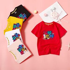 【百搭亲子装】多色印花纯棉儿童T恤