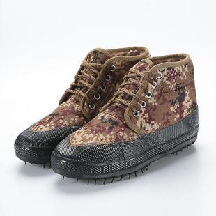 冬季棉鞋加絨加厚迷彩勞保棉鞋