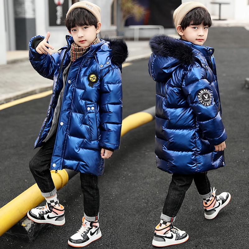 男童加绒外套冬装2020年新款加厚羽绒棉衣袄大儿童装派克棉服冬季