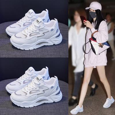 2021春季新款韩版ins老爹鞋女学生百搭厚底运动鞋女街拍休闲鞋