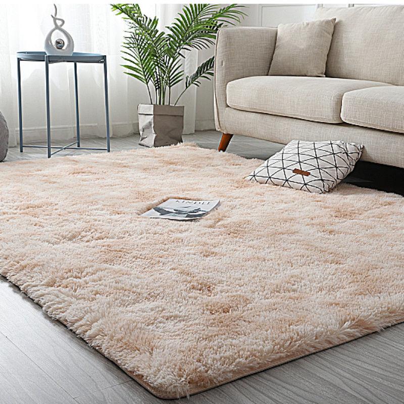 地毯卧室ins网红同款地垫长毛绒房间床边