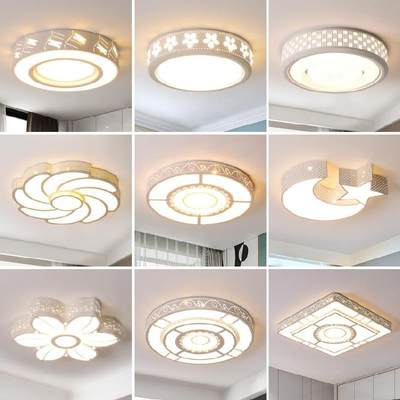 Ceiling lamp led small lamp children's room new Chinese style sun room 30cm hotel aisle lamp tea room Nordic style home improvement
