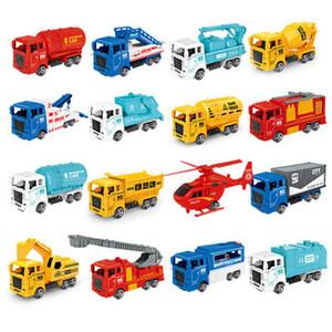 儿童回力玩具车惯性小汽车回力工程车消防车挖掘机工程车系列套装