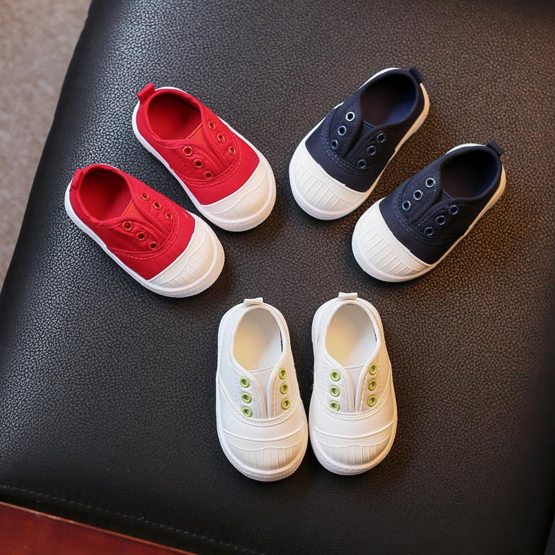 宝宝百天鞋帆布鞋小白鞋女童鞋0-5岁室内鞋宝宝布鞋男童鞋子夏