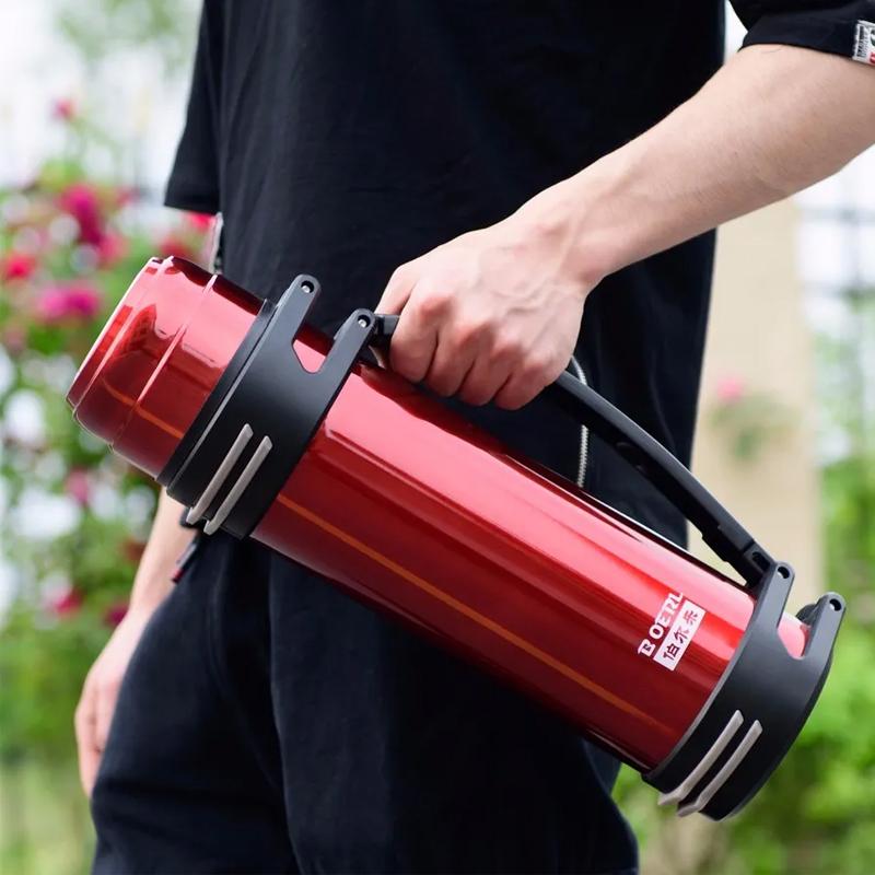 保温杯男女大容量保温壶户外保冷壶热水瓶车载旅行水壶1.0-4L