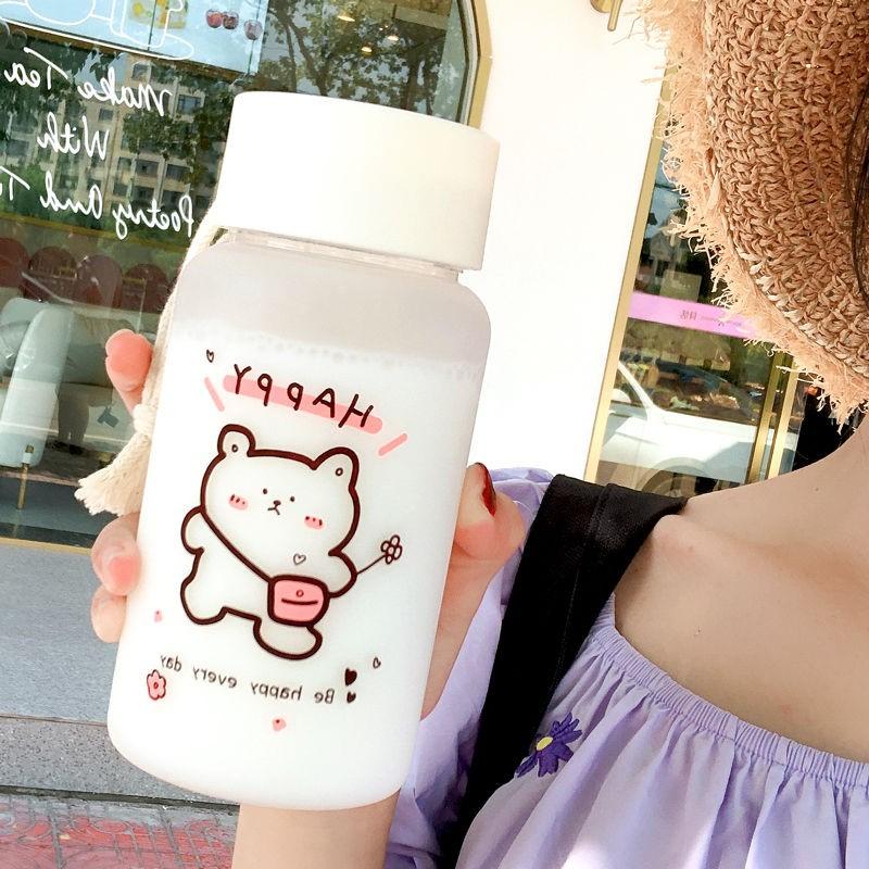 水杯女学生韩版ins网红塑料简约磨砂可爱