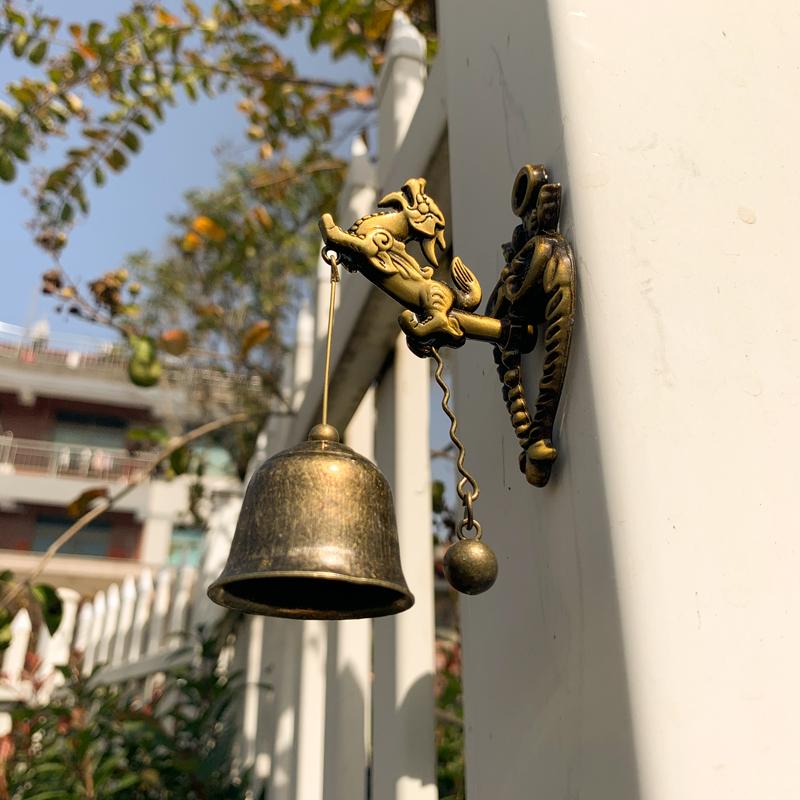 店铺吸门式风铃麒麟门铃铛挂饰门饰居家卧室客厅装饰复古中式挂件