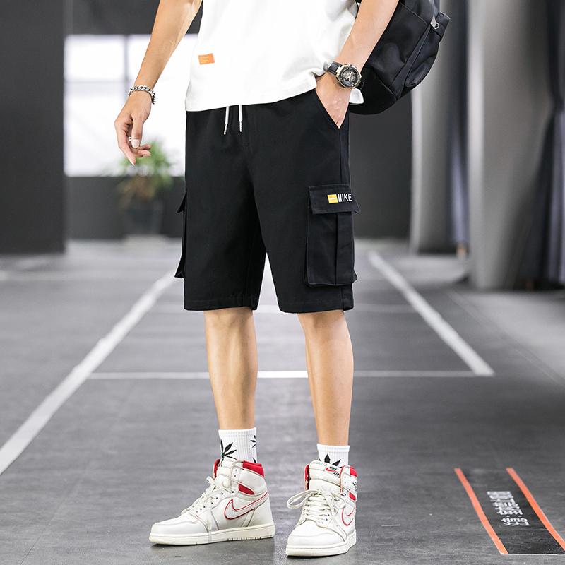夏季宽松直筒短裤户外工装短裤多口袋短裤男