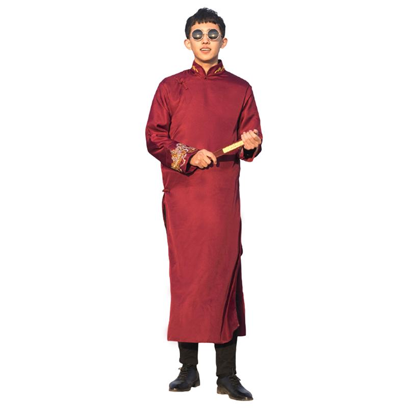 中式伴郎服婚服兄弟装中国风创意长袍古装