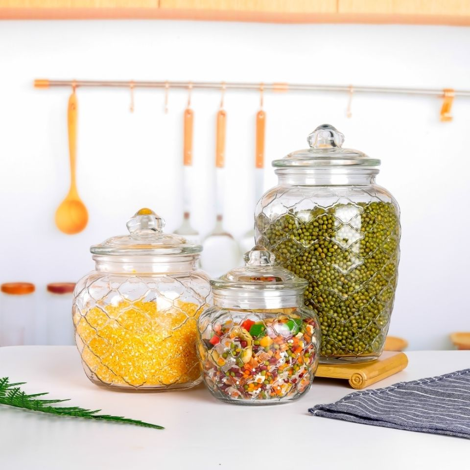 泡菜坛子玻璃瓶密封罐带盖家用