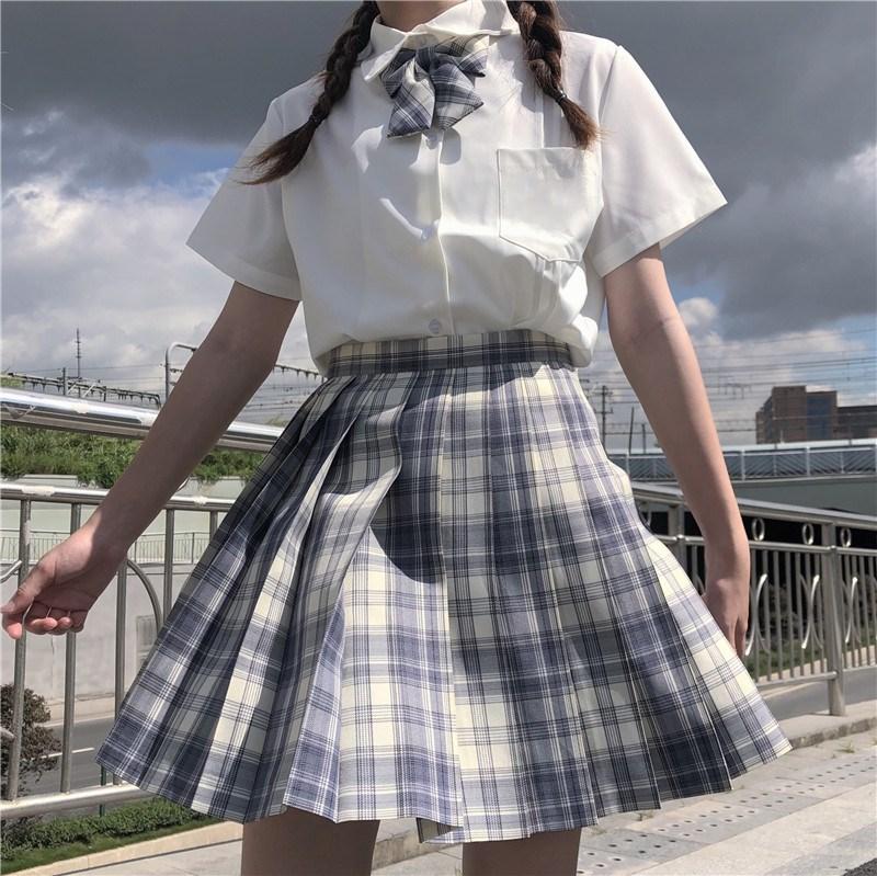 中國代購 中國批發-ibuy99 基础款衬衣日系jk制服白衬衫女短袖短款长袖设计感小众上衣春夏季