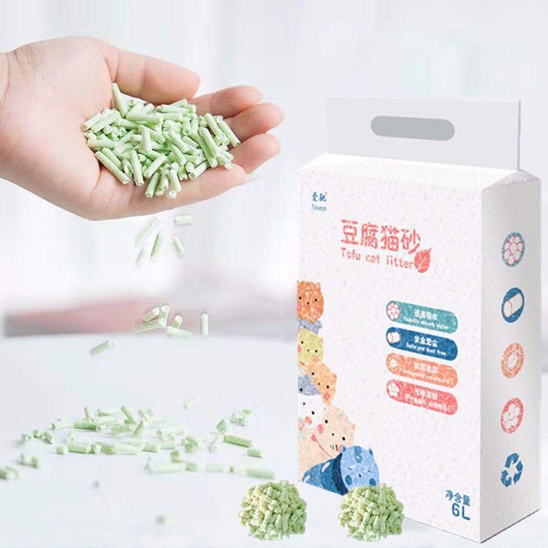 豆腐猫砂除臭猫沙6L豆腐砂豆腐渣无尘大颗粒