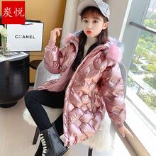 女童秋冬棉服棉袄中长款加厚保暖棉衣外套