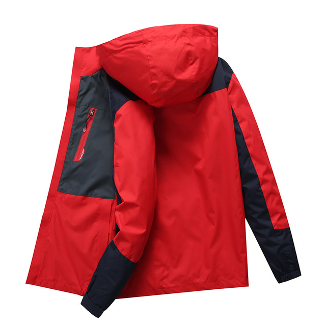 Early spring and autumn thin models couple casual college sports high school students wind jacket outdoor clothing windbreaker speed drying men