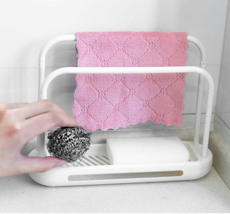 中國代購|中國批發-ibuy99|家居抹布架厨房用品台面清洁沥水架水槽置物架家用大全海绵收纳架