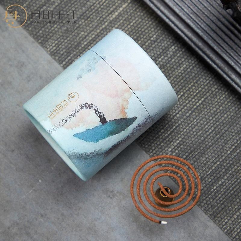 月印千江盘香檀香家用室内熏香藏香降真香卫生间厕所持久香熏用品