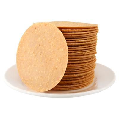 铁棍山药芝麻薄饼无蔗糖黑芝麻脆饼饼干香脆孕妇糖尿人专用食品煎