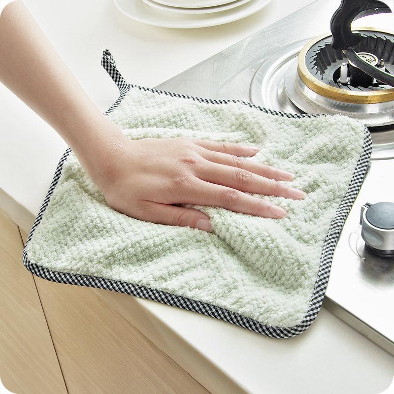抹布不沾油不掉毛洗碗布去污吸水厨房百洁布