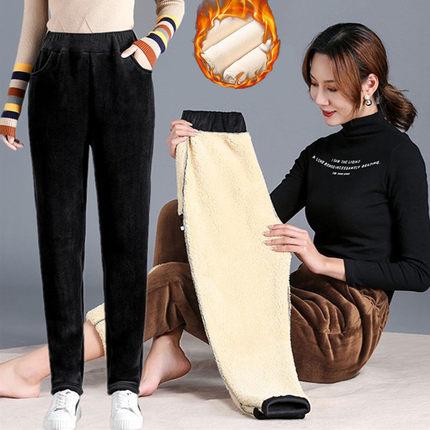 【陆客莱旗舰店】女士秋冬灯芯绒外穿宽松直筒高腰休闲长裤